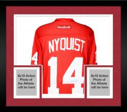 Framed Gustav Nyquist Detroit Red Wings Autographed Reebok Red Jersey
