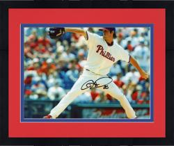 Framed Cole Hamels Autographed Phillies 8x10 Photo
