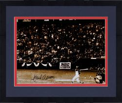 "Framed Hank Aaron Atlanta Braves Autographed 16"" x 20"" Swinging Photograph"
