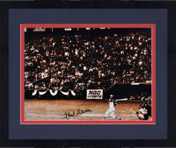 "Framed Hank Aaron Milwaukee Braves Autographed 16"" x 20"" After 715 HR Photograph"