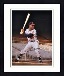 "Framed Hank Aaron Milwaukee Braves Autographed 16"" x 20"" Empty Stands Photograph"