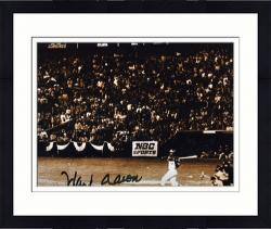 "Framed Hank Aaron Milwaukee Braves Autographed 8"" x 10"" Photograph - Mounted Memories"
