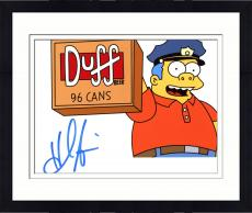 "Framed Hank Azaria Autographed 8"" x 10"" The Simpsons Chief Wiggum Photograph - Beckett COA"