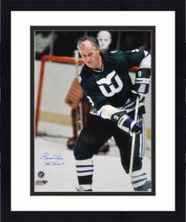 "Framed Gordie Howe Hartford Whalers Autographed 16"" x 20"" Shooting Photograph with Mr. Hockey Inscription"