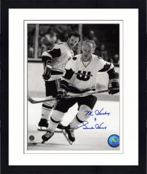 Framed Hartford Whalers Gordie Howe Autographed 8'' x 10'' Photo -