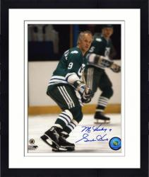 """Framed Gordie Howe Hartford Whalers Autographed 8"""" x 10"""" Wait For Puck Photograph with Mr. Hockey Inscription"""