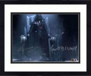 """Framed Hayden Christensen & Ian McDiarmid Star Wars Revenge of the Sith Autographed 8"""" x 10"""" Darth Vader & Darth Sidious Photograph - Topps Authentic"""