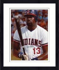 Framed Dennis Haysbert Autographed 8'' x 10'' Baseball Uniform Photograph
