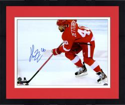 "Framed Henrik Zetterberg Detroit Red Wings Autographed 16"" x 20"" Photograph"