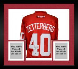 Framed Henrik Zetterberg Detroit Red Wings Autographed Reebok Red Jersey