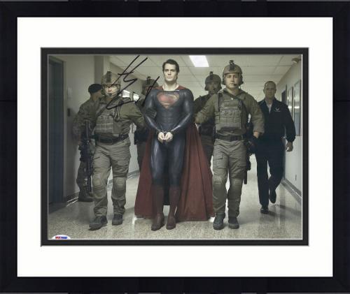 "Framed Henry Cavill Autographed 11"" x 14"" Superman Man of Steel Handcuff Photograph - PSA/DNA COA"