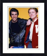 "Framed Henry Winkler Autographed 8"" x 10"" with Ron Howard Photograph"