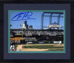 """Framed Felix Hernandez Seattle Mariners Autographed 8"""" x 10"""" Pitching Photograph"""