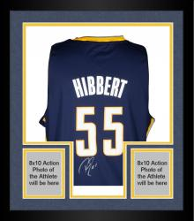 Framed HIBBERT, ROY AUTO (PACERS/YELLOW) ADIDAS SWINGMAN JERSEY - Mounted Memories