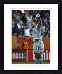 "Framed Hope Solo U.S. Soccer Team Autographed 8"" x 10"" Arms Up Photograph"