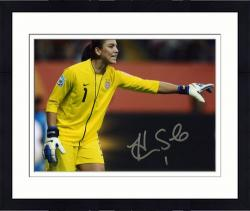 "Framed Hope Solo U.S. Soccer Team Autographed 8"" x 10"" Horizontal Photograph"
