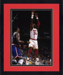 Framed Houston Rockets Hakeem Olajuwon Autographed 8'' x 10'' Photo