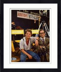 "Framed Huey Lewis Autographed 8"" x 10"" Back To The Future: Sitting With Michael J Fox Photograph - Beckett"