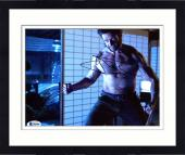 """Framed Hugh Jackman Autographed 8"""" x 10"""" The Wolverine Ready to Fight Photograph - Beckett COA"""