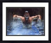 "Framed Hugh Jackman Autographed 8"" x 10"" X-Men Wolverine Angry Photograph - Beckett COA"