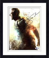 """Framed Hugh Jackman Autographed 8"""" x 10"""" Xmen Screaming Photograph - Beckett COA"""
