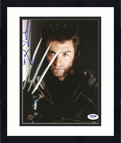 "Framed Hugh Jackman Autographed 8""x 10"" X-Men Wolvernie Claws Photograph With Vintage Full Autograph - PSA/DNA COA"