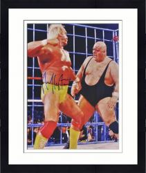 "Framed Hulk Hogan Autographed 16"" x 20"" vs King Kong Bundy Photograph"