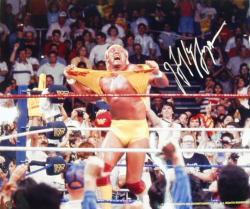 "Framed Hulk Hogan Autographed 20"" x 24"" Hulkamania Photograph"