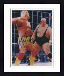 "Framed Hulk Hogan Autographed 8"" x 10"" vs. King Kong Bundy Photograph"