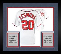 Framed Ian Desmond Washington Nationals Autographed Majestic Home Jersey