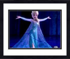 "Framed Idina Menzel Autographed 11"" x 14"" Frozen Elsa Singing with Arms Wide Open Photograph - Beckett COA"