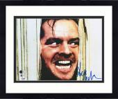 "Framed Jack Nicholson Autographed 11"" x 14"" The Shining Photograph - BAS"