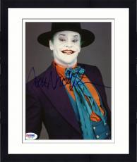 "Framed Jack Nicholson Autographed 8""x 10"" Batman Dressed as the Joker Photograph - PSA/DNA COA"