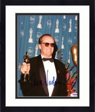 "Framed Jack Nicholson Autographed 8""x 10"" Holding Oscar Award Photograph - PSA/DNA COA"