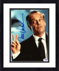 "Framed Jack Nicholson Autographed 8""x 10"" Mars Attacks Peace Fingers Photograph - PSA/DNA COA"