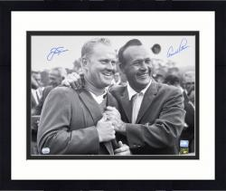 Framed Jack Nicklaus and Arnold Palmer Autographed 16'' x 20'' 1965 Masters Celebration Photograph