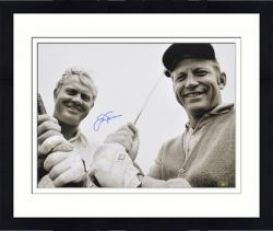 Framed Jack Nicklaus Autographed 16'' x 20'' with Mickey Mantle Photograph