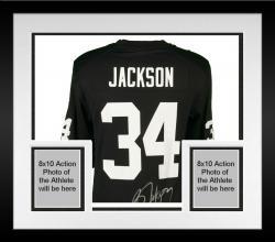 Framed Bo Jackson Raiders Autographed Nike Jersey