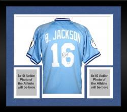 Framed Bo Jackson Royals Autographed MLB Jersey