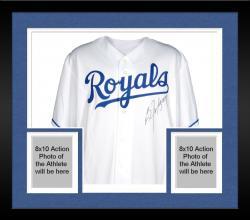 Framed Bo Jackson Kansas City Royals Autographed White Majestic Replica Jersey