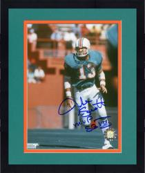 Framed Jake Scott Miami Dolphins Autographed 8'' x 10'' Photograph with MVP SB VII  Inscription