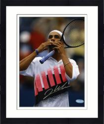 "Framed James Blake Autographed 8"" x 10"" Blowing Kiss Action Photograph"