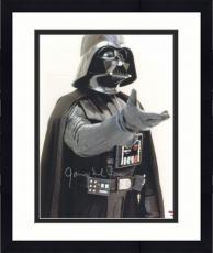 "Framed James Earl Jones Autographed 11"" x 14"" Star Wars Darth Vader Raising Hand Photograph - PSA/DNA COA"