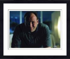 Framed James Gandolfini Autographed Photo - 8x10 SM Holo