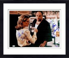 "Framed James Gandolfini & Edie Falco Autographed 16"" x 20"" Sopranos Photograph - JSA"