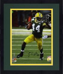 "Framed James Starks Green Bay Packers Super Bowl XLV Autographed 8"" x 10"" Photograph"