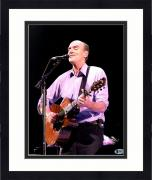 Framed James Taylor Signed Vertical Pink Shirt 11x14 Photo Beckett
