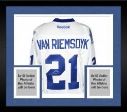 Framed James van Riemsdyk Toronto Maple Leafs Autographed Premier Blue Jersey