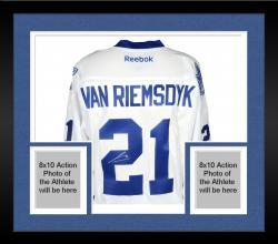Framed James van Riemsdyk Toronto Maple Leafs Autographed Premier Blue Jersey