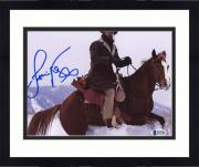 "Framed Jamie Foxx Autographed 8"" x 10"" On Horse In Snow Photograph - Beckett COA+R108R83:R113R83:R11R83:R102"